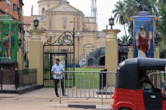 Street view of Holy Spirit Church, Kochchikade, Sri Lanka