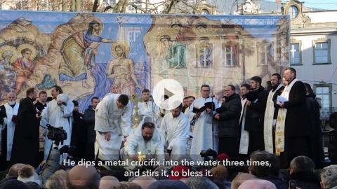 Great Blessing of Waters during the Feast of Jordan, Lviv, Ukraine