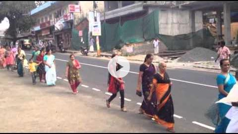 Funeral Procession to St. Alphonsa Shrine & Church, Kerala, India